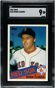 Rookie 1985 Topps 181 Roger Clemens Sgc Mint 9 Boston Red Sox Rc