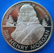 Jamaica 1974 Henry Morgan 10 Dollars 1.27oz Silver Coin,proof
