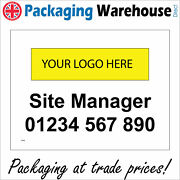 Cs386 Site Manager Sign Contact Telephone Your Logo Company Name Choice Text