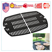 Cast Iron Grill Cooking Grates 15.3andrdquo For Weber Q200 Q2000 2-pack