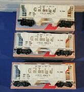 3 Weaver O Scale 34' Covered Hopper Gold Loaf Flour All Diff Road 's Boxed
