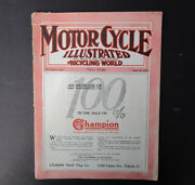 1916 Motorcycle Illustrated Magazine Antique Book Harley Indian Henderson Ace
