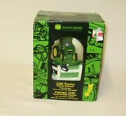 John Deere Tractor 2440 Snow Globe Music Box Plays Down By The Old Mill Stream