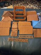Superior T.cohn Fort Cheyenne Playset Parts From 1959-1961