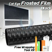 Black Cat Eye Frosted Film Glass Office Home Bathroom Window Security Privacy