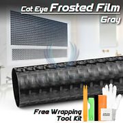 Gray Cat Eye Frosted Film Glass Office Home Bathroom Window Security Privacy