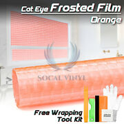 Orange Cat Eye Frosted Film Glass Office Home Bathroom Window Security Privacy