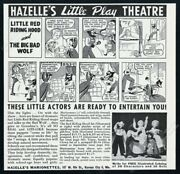 1945 Hazelle's Marionettes Marionette Puppets Photo Play Theatre Print Ad