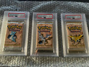 Pokemon Cards 1st Edition Fossil Booster Art Set Psa 10 Consecutive Numbers