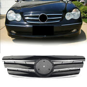 3-pin Front Grille Amg Style Black Fit Mercedes Benz C Class W203 00-06 Auto