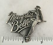 5 Vintage Ww2 Pins - Bomber Nose Art Solid Metal And 4 Cloisonne