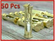Lot Of 50 Pcs Brass Handmade Vintage Style Sand Timer Hour Glass-nautical Gift