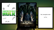 The Incredible Hulk Script/screenplay Movie Poster Autographs Signed Print