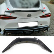 For Toyota Gr Supra 2020-2022 Real Carbon Fiber Rear Trunk Spoiler Wing Flap 1pc