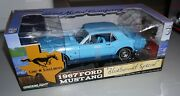 1967 Ford Mustang Blue Bonnet Special Greenlight 1/18 Diecast New In Box.