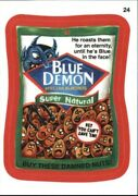 2015 Wacky Packages Series One Red Metallic 24 Blue Demon