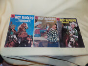 3 Vintage Roy Rogers And Trigger 10 Cent Comic Books Volume 1 - 1955 56 57