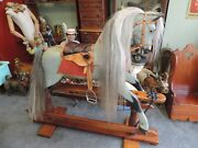 C1920 Fh Ayres 44 Rocking Horse Beautiful And Sympathetic Restoration See Info