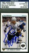 Larry Robinson Signed Psa/dna 1990 Upper Deck Hockey Certified Autograph