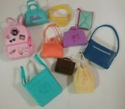 Barbie Accessories Lot Of 10 - Purse Large Shoulder Tote Backpack Briefcase