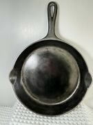 Griswold Small Logo Cast Iron Skillet No. 8 Erie, Pa 704 H Dbl Spout Groove Hdl