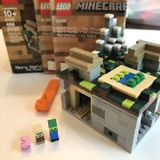 Lego Minecraft Micro World The Village Complete Set 21105 W Box And Instructions