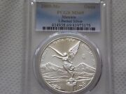 2009 Mo Pcgs Ms69 1 Onza Mexico Silver Libertad Only 3 Graded Higher Light T
