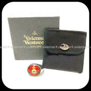 Vivienne Westwood Rare Enamel Button Ring Red Silver Size Xs