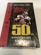 1 2005 Topps Football 50th Anniversary Hobby Sealed Box Rodgers Rc Possible