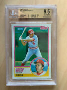 Johnny Bench 1983 Topps 60 Bgs 9.5 Gem =ps10 Sold550 Perfect 10 Centered