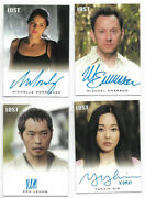 Lost Seasons 1 Thru 5 - Autograph And Relic Card Selection Nm Rittenhouse 2010