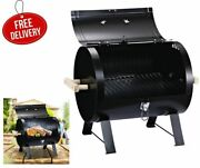 Outsunny 20 Barbecue Tabletop Charcoal Grill Side Fire Box Portable Bbq Smoker