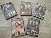 5 Dvds Twilight Saga -twilight- New Moon - Eclipse - Breaking Dawn Part 1 And 2