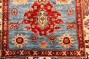 25 Ft. Long Hall Runner 3and039 X 25and039 Handmade Vegetable Dyed Wool Rug Light Blue