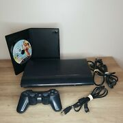 Sony Ps3 Super Slim 250gb Cech-4201b Black With Gta 5 Ps1 Compatible