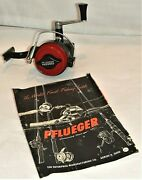 Vintage Pflueger Freespeed 1000 Spinning Fishing Reel And Catalog Page 35 To 42