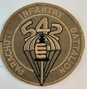 Original Wwii Us Army 542nd Parachute Infantry Battalion Pocket Patch