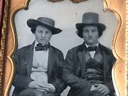 Early C 1852 Unknown Kit Carson Photo 6th Plate Ambrotype Photograph Pre C War