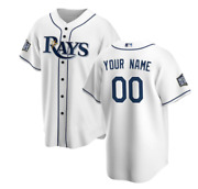 Tampa Bay Rays World Series Custom Name And Number White Baseball Jersey Xs-4xl