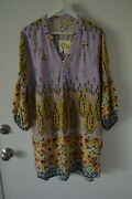 New Fig And Flower Chic Shirt Top Blouse Long Tunic Size Xl
