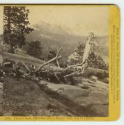 1860's Stereoview Cloud's Rest From Cap Of Liberty, Yosemite Valley By John P. S