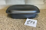 Tupperware Ultrapro Ultra Pro Lasagna Pan Roaster And Cover 3.5 Qt New Large