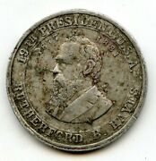 Rutherford B Hayes 1933 Cracker Jack Mystery Club Coin Token Medal Chicago Bg807