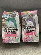 2x I Dig Monsters Popsicle Packs Blue And Purple New Sealed Monji Monsters