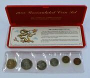 1988 Singapore Uncirculated Coin Set W/ Box And Coa