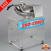 Commercial Snow Cone Maker Shaved Ice Machine Electric Sryup Slushie 120v