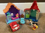 Fisher Price Little People Mickey And Goofy's Gas And Dine Magic Of Disney Rare