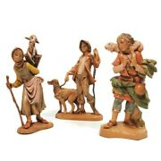 Lot Of 3 Fontanini Nativity Village 5 Figurines Depose Italy Dated 1983 And 1992