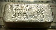 Rare Vintage 10 Ounce Br Mackay Silver Bar. 10.87 Troy Ounces. Most Were Melted.
