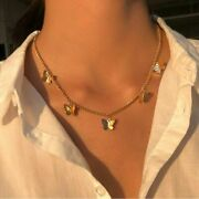 Women Vintage Pendant Butterfly Necklace Choker Necklaces Jewelry Christmas Gift